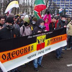 Пророссийский марш 1 марта 2014 г.