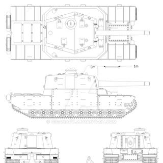 Проекции танка Тип 2605.