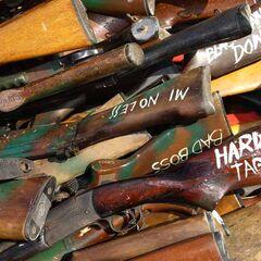 Оружие, отобранное у противостоящих друг другу племен Соломоновых островов.
