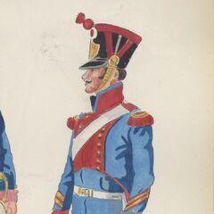 Капрал Chef de Piece артиллерии 4-го пехотного полка, 1813 - 1815 гг.