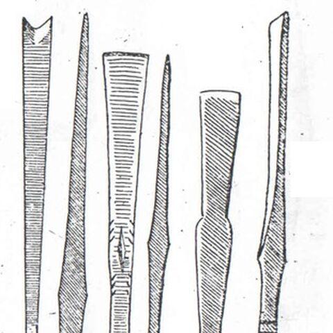 Различные варианты наконечников аттель-тище.