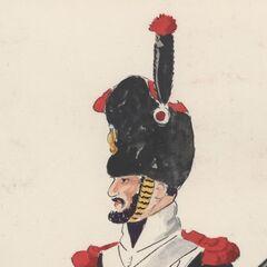 Сапер 3-го линейного полка, 1814 - 1815 гг.