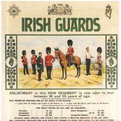 Агитационный плакат Ирландской Гвардии, 1901 г. Требуются мужчины от 18 до 25 лет.