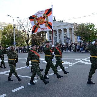 2015.05.05 Репетиция парада Победы с участием батальона Оплот.