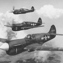 Истребители Р-40.