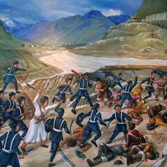Третья непало-тибетская война, 1855 год.