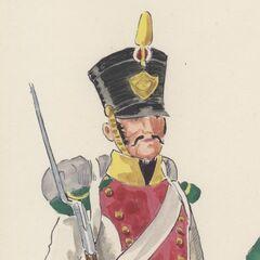 Вольтижер 4-го линейного полка, 1813 - 1815 гг.