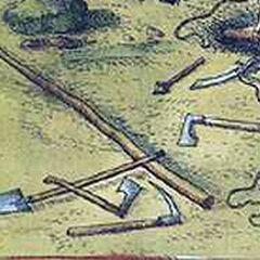 Инженерные орудия выбранцев.