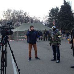 В лагере Одесской дружины на Куликовом поле, 15 марта 2014 г.