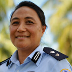 Женщина-полицейский из Тонга в составе RAMSI.