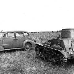 Трофейный японский легкий танк Тип 94