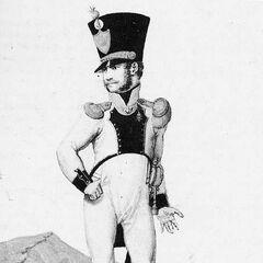 Лейтенант вольтижеров 3-го линейного полка, 1814 г.