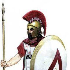 Спартанский гоплит сер. V века до н. э.