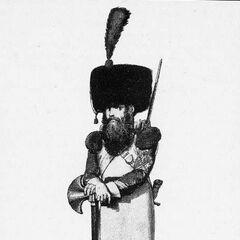 Сапер 5-го линейного полка, 1814 г.