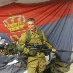 Сербский снайпер в отряде.