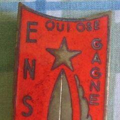Эмблема Национального военного училища по подготовке унтер-офицеров действующего состава, которая носится на груди справа.