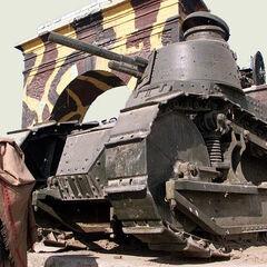 Renault FT-17, некогда состоявший на вооружении королевской армии Афганистана.