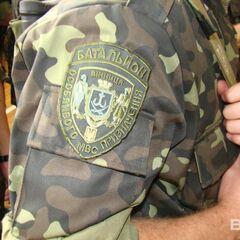 Камуфлированный вариант нашивки батальона