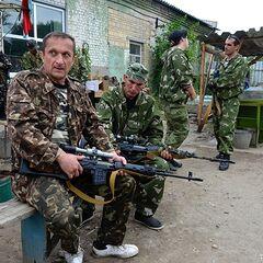 Бойцы Призрака в Лисичанске.