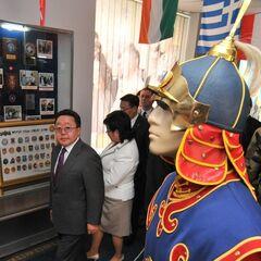 Униформа монгольского почетного караула в музее Львовской Академии <a href=