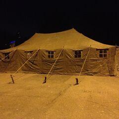 Палатки Одесской дружины на Куликовом поле.