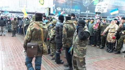 18 1 14 Репортаж среди Самообороны Майдана