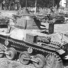 Ха-Го в танковом парке японской армии, предположительно Китай, конец 1930-х годов.