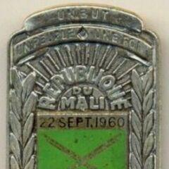 Знак пехоты, который носится на правом кармане.