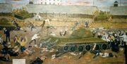 Графічне свідчення учасника повстання Юрія Ференчука. Кров Кенгіра Картон, олійні фарби, 1993.