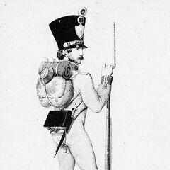 Фузилер 9-го линейного полка, 1814 г.