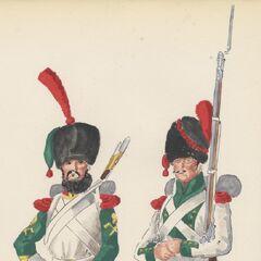 Капрал саперов и гренадер 5-го линейного полка, 1813 - 1815 гг.