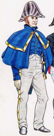 1 полк неаполь офицер в походной форме 1813