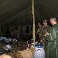 Внутри палатки.