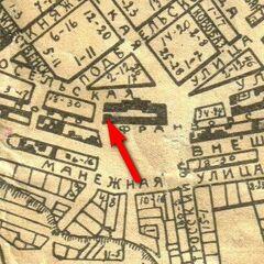 Казарма №6, в которой располагался 16 Стрелковый полк, на карте г. Одесса.
