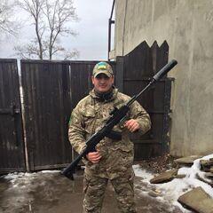 СКС обр. 53 года, модернизованный украинскими волонтерами в зоне АТО, февраль 2016 г.