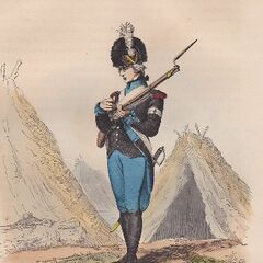 Шассёр легиона Мирабо, 1792 г.