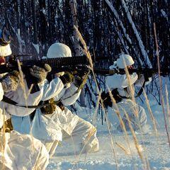 Рейнджеры на учениях в арктических условиях.