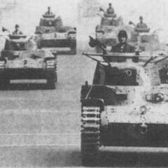 Чи-Ха на военном параде, начало 1940-х годов