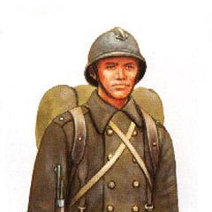 Чехословацкий солдат из состава дивизии в полной боевой выкладке.