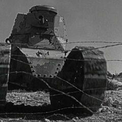 Танк M1917 на учениях.