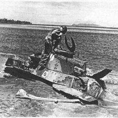 Чи-Ха подбитый в ходе сражения за Гуадалканал, осень 1943 г.