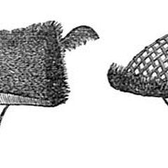 Плетенные шлемы ади. Иллюстрация из книги Дж. Батлера