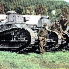 Танки M1917 в США. 27-я танковая рота в лагере Smith Peekskill. Нью-Йорк. Начало 1930-х годов.