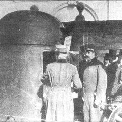 Осмотр бронеавтомобиля высшим командованием австро-венгерской армии, 1906 г.