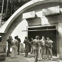 На складе в Боровнице, июль 1991.