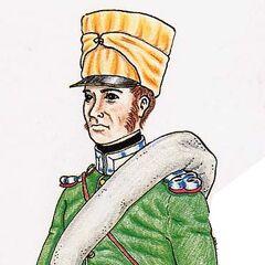 Музыкант 5-го линейного полка в походной форме, 1814 г.