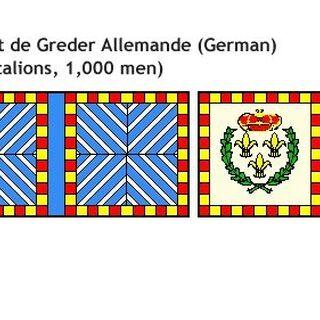 Униформа и знамя немецкого полка Гредер.