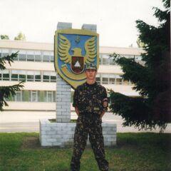 Военнослужащий бригады в день принятия присяги, 15 июня 2002 г.