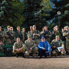 Бойцы Кривбасс-спецназа перед отправкой в зону АТО, 17 сентября 2014 г.