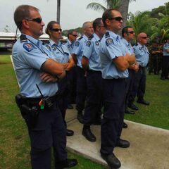 Полиция Новой Зеландии на Соломоновых островах.
